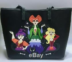 IN HAND Loungefly Disney Hocus Pocus Sanderson Sisters Fashion Tote Bag & Wallet
