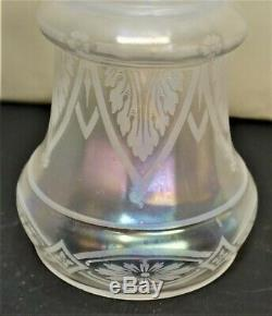 Iridescent Etched Glass Lampshades For Chandelier Wall Sconces Set Of 4
