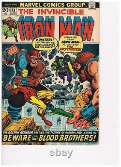 Iron Man #55, 1970s Marvel, First Thanos & Drax the Destroyer, Jim Starlin, VG+