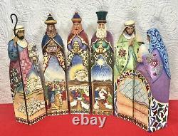 Jim Shore 3 Kings Wise Men Shepherd Holy Family Jumbo 20 6 pc set READ + VIDEO