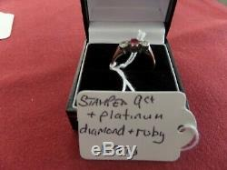 Job lot (QTY 10) / collection of hallmarked 9 ct solid gold and diamond rings