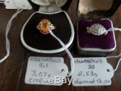 Job lot / collection of hallmarked solid gold rings