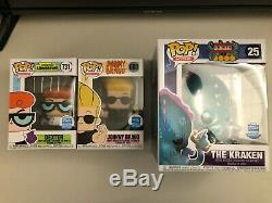 Johnny Bravo and Dexter's Laboratory and The Kraken Funko Shop Exclusive Soldout