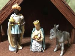 LARGE Hummel Goebel Nativity 13 piece, 1951 West Germany set #214, with Creche