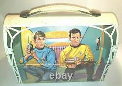 (L@@K) Vintage 1968 Vintage STAR TREK Metal Dome LUNCH BOX and THERMOS