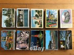 Large Lot of 1000+ Vintage Early and Mid-1900s American Postcards