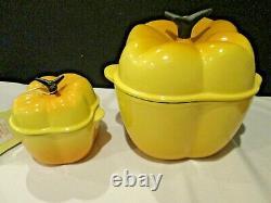 Le Creuset Enamel Cast Iron Yellow Bell Pepper & Stoneware 13oz Bell Pepper