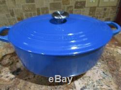 Le Creuset Signature Oval Dutch Oven Marseilles Blue #29, 5 Qts Stainless Knob