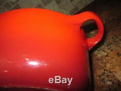 Le Creuset Vintage Cast Iron Red Oval Dutch Oven #23 2.75 Qts &stoneware Cocotte