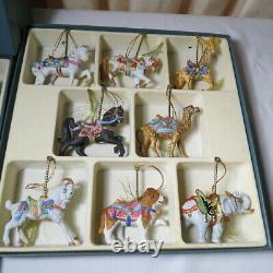 Lenox 1989 Carousel Christmas Ornaments set of 24 in Original Box
