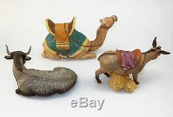 Lenox China RENAISSANCE Nativity Animals MIB 1991 Hand Painted Ox Donkey Camel