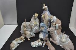 Lladro Nativity Set Collection Rare with Boxes 9 Pieces Video Added
