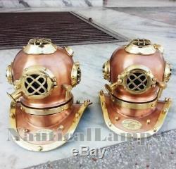 Lot 2 Unit Divers Helmet Vintage Diving Helm Collectible Antique Decorative Gift