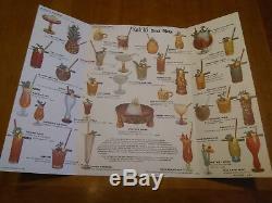 Lot Sale (9) Vintage KAHIKI Polynesian Restaurant Menus, Mugs + Ephemera VG+