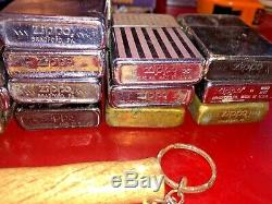 (Lot of 17) Zippo Lighters and a Hammer Lighter