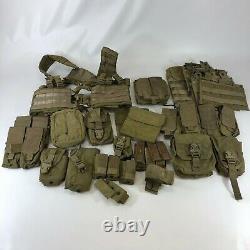Lot of 28 Eagle industries SFLCS Khaki Pouch Gear Magazine MBITR H Harness SOF