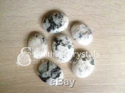 Lot of 50 Rainbow Moonstone Worry Stone Crystal Palm Stone Thumb Stone