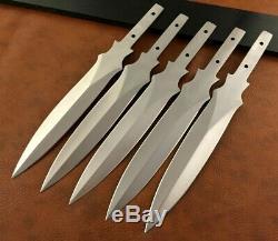 Lot of 5 Handmade 420 High Carbon Steel Hunting Knife Blank Blades-Dagger-C111