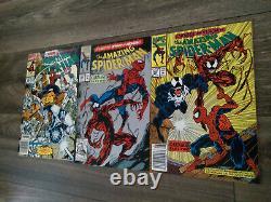 MARVELAMAZING SPIDER-MAN (WOW!) HOT LOT #s 360,361,362 1st. APP. CARNAGE