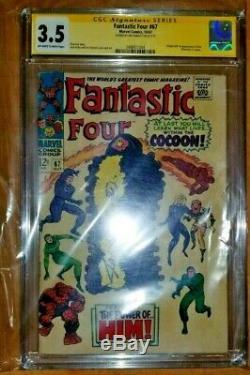 Marvel Comics Fantastic Four 66 67 Warlock 1 1st App LOT CGC SS JOE SINNOTT