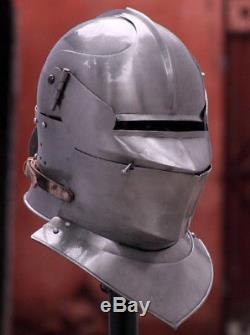 Medieval Knight Tournament Close Armor Helmet 18GA SCA LARP Replica US22