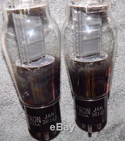 Mega Rare Matched Pair 2c45 Hytron Jan 38142 Power Tubes High End 50 / 250 #10