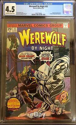 Moon Knight! Werewolf By Night 32 4.5 WWBN 33 7.5 Marvel Spotlight 28 9.2 & more