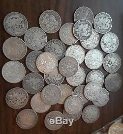 Morgan Silver Dollar Mixed Date/Mints 20 US Coin Roll Collectible Investment