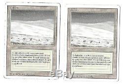 Mtg 2x Tundra (Revised) 3rd Edition Rare dual land
