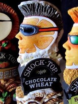 NEW 7 Shock Top Beer Tap Handle Lot Pretzel Apple Raspberry Chocolate Honey Bar