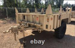NEW M1101 M1102 TRAILER TAN HMMWV M998, 8 BASE SUPPORTS 4 Corner, 4 Center