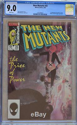 NEW MUTANTS #25 (03/1985) LOT of (3) CGC 7.0-8.5-9.0 1st Appearance of Legion