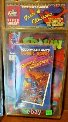 NEW Spawn #1 Image Newsstand Variant Comic Book Cover Todd McFarlane 1 withVideo