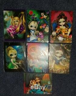 NIP Disney Wonderground Gallery Jasmine Becket-Griffith Postcard Set 7 Princess