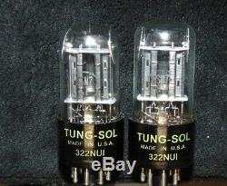 NOS PAIR Tung-Sol 6SN7GT VT-231 Vintage Tube's Getter Ear's Mica Black Plate