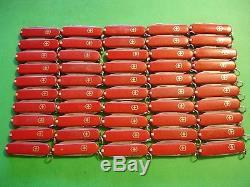 NTSA LOT of 50 SWISS ARMY VICTORINOX RED CLASSIC 58mm POCKET KNIVES FREE SHIP