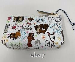NWT GENUINE Dooney & Bourke DISNEY PAW PRINTS Dog Sketch Tote & Cosmetic Case