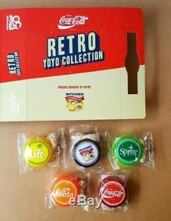 New Coca Cola Retro YoYo Collection With Case Ritchies Sprite Fanta Lift Set