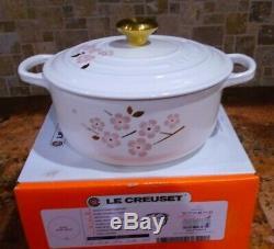 New Le Creuset Cast Iron Limited Edition Sakura Cherry Blossom #20 2.75 Qt Box