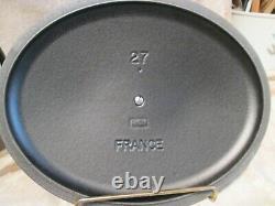 New Le Creuset Cast Iron Oval Dutch Oven Matte Noir Black 27 4.25qts 2 Available