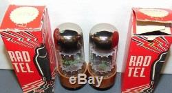 Nos Nib Pair (tung-sol) Rad-tel 6sn7gt Vt-231 6sn7 Tall Bottle Tube's 1960