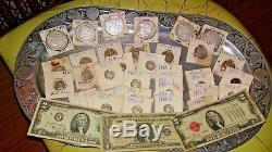 Old coin collection 1883-1901 morgan sD, 1936-45 dimes, 1938/50 nickles, 1925-30 Q