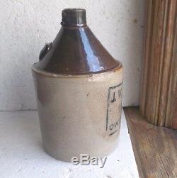 Owensboro, Ky J. W. M. Field & Sons Wholesale Liquors Small 7 1/4stoneware Jug