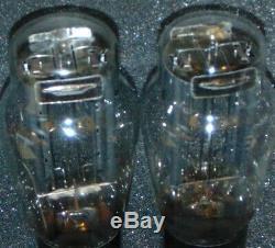 PAIR CHS 274B Military 2 Tubes Sylvania 1940s 274-B sub Western Electric 274