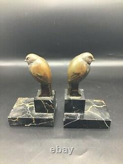 Pair of French Art deco Bookends signed O. Lelievre