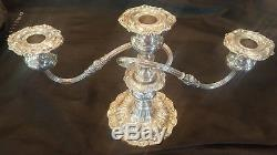 Pair of Sterling 3 candle Reed & Barton Francis the 1st. Weighted Candelabras