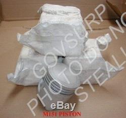 Piston Std M151 M151a1 M151a2 Mutt Nos (4ea Set) Pn 7046991 Nsn 2805-00-800-9821