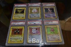 Pokemon 1st Edition Shadowless Base Set HOLO Collection PSA 9 BGS MINT LOT