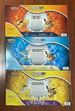 Pokemon TCG Jolteon Vaporeon Flareon GX Special Collection 3 BOX SET SHIPS NOW