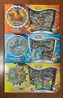 Pokemon TCG Jolteon + Vaporeon + Flareon GX Special Collection Boxes SHIPS NOW